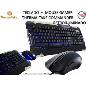Teclado + Mouse Gamer Thermaltake Commander Retroiluminado