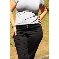 Calça Feminina Preta Plus Size Tamanho Grande 44 Ao 60