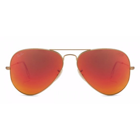 lentes ray ban tornasol rojos