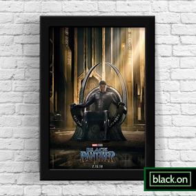 Poster Moldura Quadro Marvel Pantera Negra Filme 30x20cm #7