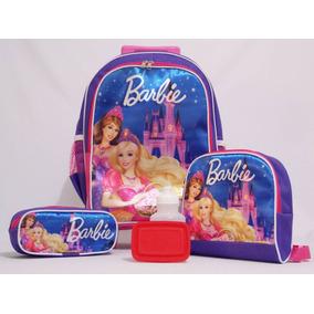 Kit Barbie Princesa Mochila Infantil Rodinha-pronta Entrega