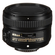 Lente Nikon Af-s Nikkor 50mm F/1.8g Autofoco C/ Recibo