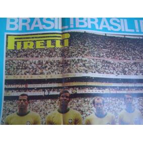 Poster Brasil Tri Campeão Mundial - Pirelli - Grande