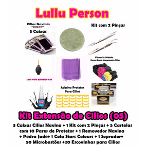 Kit Extensão De Cílios Fio A Fio Along (05) Frete Grátis