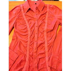 642eaac13d3d4 Diseño  Camisa De Raso Entalladoa Lunares T. S Impecable Camisas ...