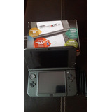New Nintendo 3ds Xl 16gb Negro+pokemon Sol Luna + Cargador
