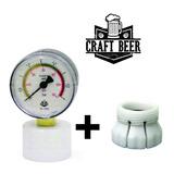 Manômetro Controlador De Pressão +adaptador Garrafas S/rosca