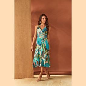 Vestido Lecimar Anele Em Viscose Rayon Alto Verão Abertura N