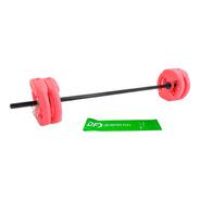 Kit Barra Body + 17 Kg En Discos Con Manija Body Pesa Gym Df