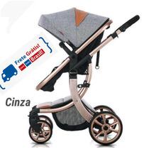 Carrinho De Bebê Luxo 3 Em 1 Importado De 0 A 36 Meses