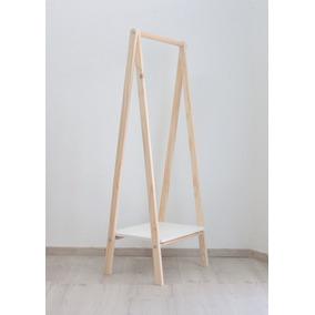 perchero de pie madera moderno escandinavo vintage exhibidor - Percheros Modernos
