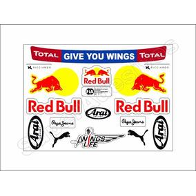 Cartela Adesivos Daniel Ricciardo + Frete Grátis