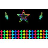 Painel De Decoração Festa Aniversário 2 X1,4 Balada Neon