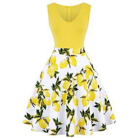 7d7c0c07d Vestidos Vintage Mujer Elegantes - Ropa y Accesorios Amarillo en ...