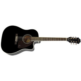 Guitarra Epiphone Electroacustica Aj-220sce Negro Eq Y Tuner