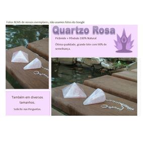 Kit Quartzo Rosa Pendulo Piramide Pedra Natural Frete Gratis