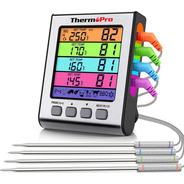 Termómetro Digital Con 4 Sondas Thermopro Tp17h Carnes Timer