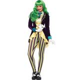 Roupa Coringa Feminino Adulto Vilão Batman C/jaqueta E Calça