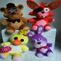 4 Bonecos De Pelúcia Five Nights At Freddy Musicais + Brinde