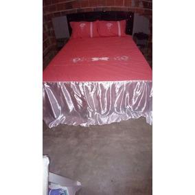 327fc3b81e Colcha Casal Bordado (algodão cetim)
