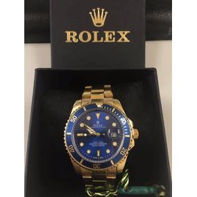 377af439e63 Usado - São Paulo · Relogio Rolex Submariner Dourado Cx Grande Fundo Azul