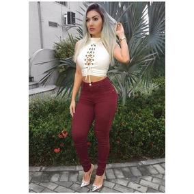 Calça Jeans Feminina Coloridas Com Lycra