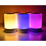 Parlante Bluetooth Lampara Led Colores Sd Usb