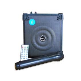 Caixa De Som Amplificada Bluetooth Com Microfone Controle