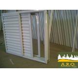 Ventana De Aluminio 120x100 Corrediza Con Postigon