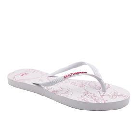 Chinelo Feminino Slim Branco 875 Donna Comfort