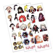 Plancha De Stickers De Kakegurui Anime