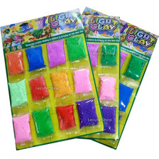 12 Foamy Moldeable Colores Surtidos 10gr Plastilina Manualid