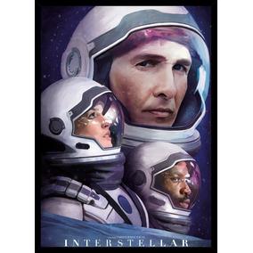 Quadro Filme Interestelar Christopher Nolan Arte 42x29cm