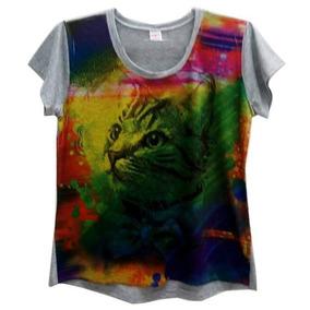 Blusinhas Gato - Camisetas e Blusas no Mercado Livre Brasil ff4b18c242d