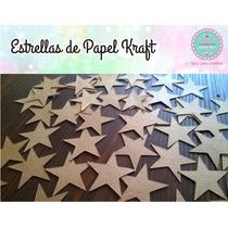 Estrellas Sueltas En Papel Kraft / Madera Para Guirnaldas