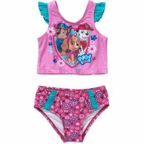 Malla Traje De Baño Infantil Bikini Paw Patrol Nena Beba
