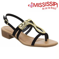 Sandália Salto Baixo Mississipi (dakota) Preto X5892