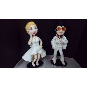 Boneco Elvis Presley / Marilyn Monroe Personalizado Biscuit