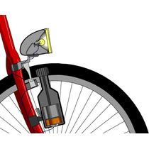 Kit Dinamo Para Bicicleta Luz Vintage Retro Faro Cromado Df!
