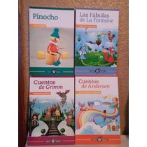 Libros Paquete De 4 Pinocho, Cuentos De Grimm, Las Fabulas