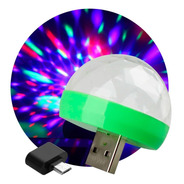 Media Esfera Led Small Magic Ball 4w Audioritmica Otg Usb Luces Dj