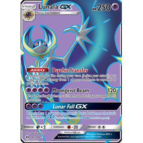 Lunala Gx Full Art 141/149 Pokemon Tcg Sun And Moon