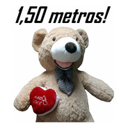 Urso Gigante Caramelo De Pelúcia Grande 1,5 Metros 150 Cm
