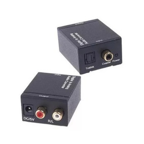 Conversor Audio Optico Digital Fibra/coaxial P/rca Analogico