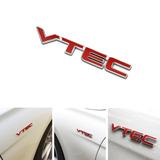 Insignia Emblema Auto 3d Vtec Metal Cromado Con Sticker Hond