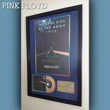 Cuadro Pink Floyd The Dark Side Of The Moon Cd Estilo Oro