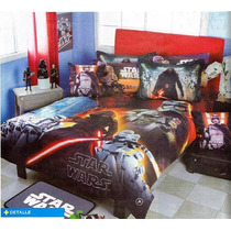 Star Wars Edredon Cojin Colcha Ninos 9pc Darth Matrimonial *