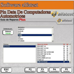 Software Pin Data De Computadoras Automotrices - Ecu