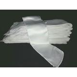 Lote 100 Tiras Blancas Rasadas P/ Vestir Fundas Sillas