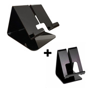 Kit Suporte De Mesa Celular Smartphone E Tablet iPad Display